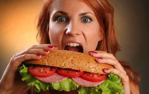 жирный бутерброд