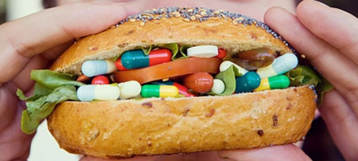 гамбургер с таблетками